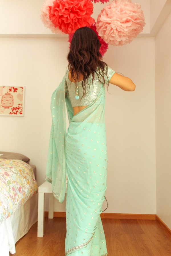 how to wear a saree-11