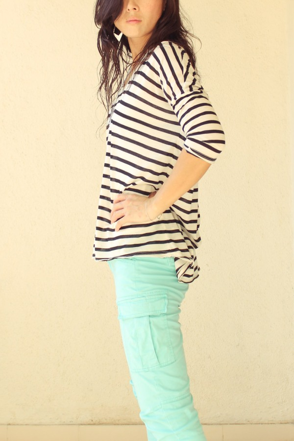 iSanctuary Mango Stripe Shirt Gap Green Pants-10