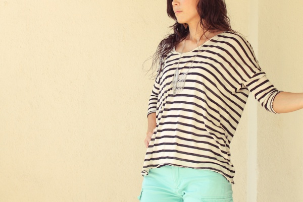 iSanctuary Mango Stripe Shirt Gap Green Pants-5