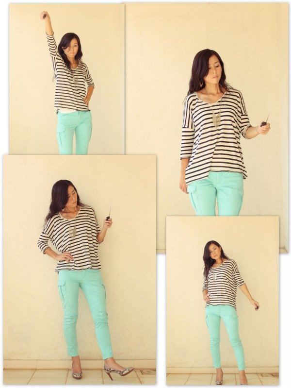 iSanctuary Mango Stripe Shirt Gap Green Pants2
