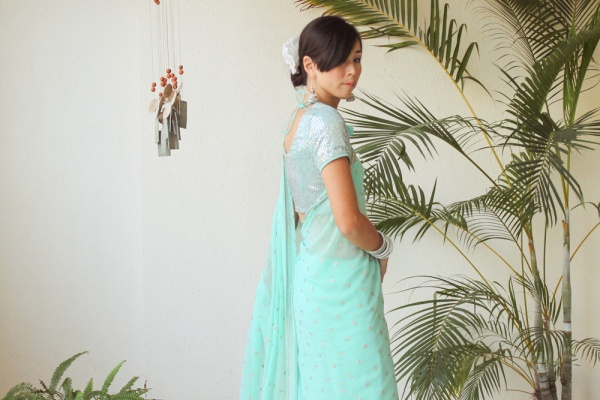 Mint Green Saree e