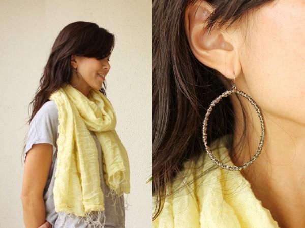 neon pants yellow scarf Sanctum e6