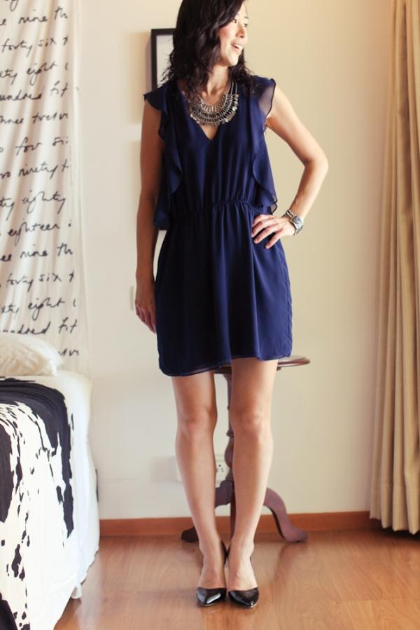 Zara Navy Dress-4