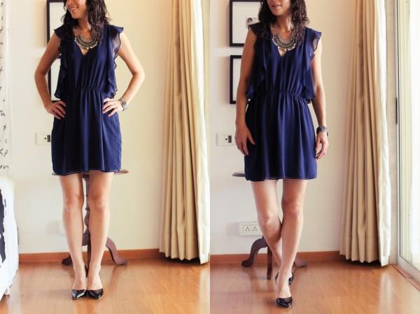 Zara Navy Dress1